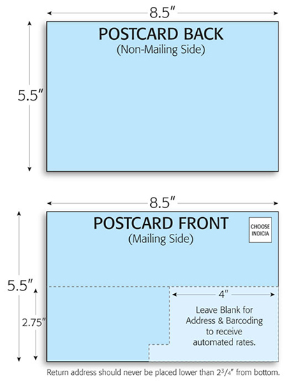 Postcard Mailing Template X Direct Mail Card Design Layout - Card template free: postcard mailing template